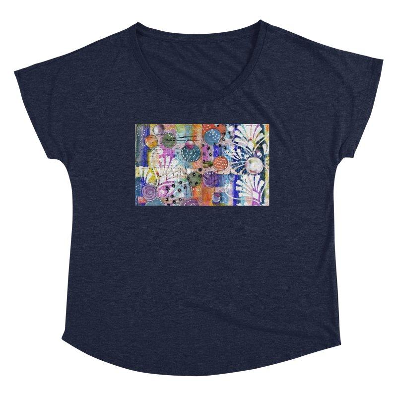 deep orange space Women's Scoop Neck by krasarts' Artist Shop Threadless