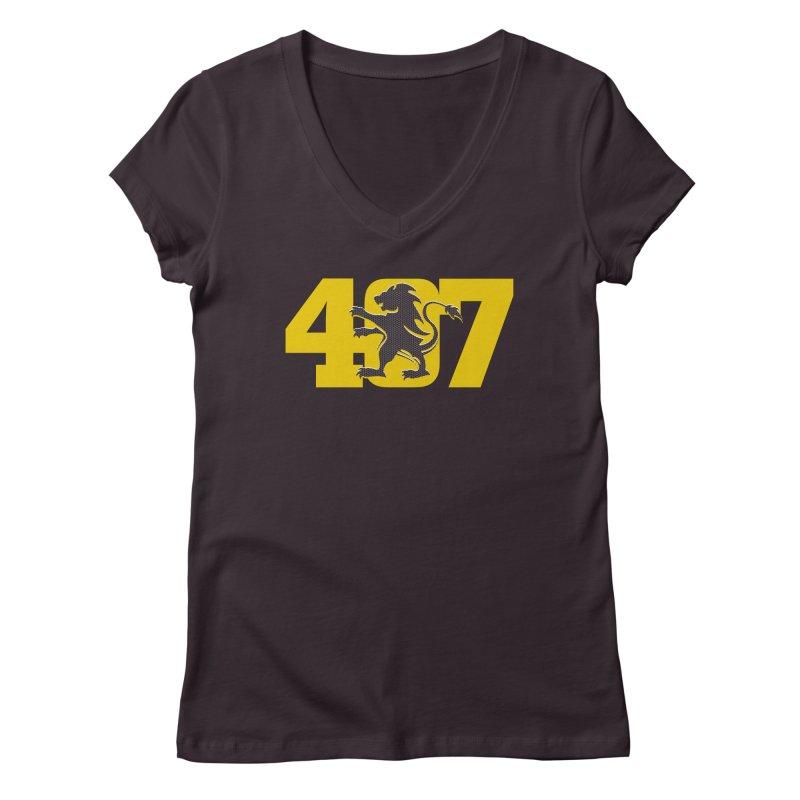 Orlando 407 Lion Women's V-Neck by Krawmart
