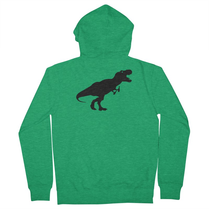 Double-fisting Dino Men's Zip-Up Hoody by Krawmart