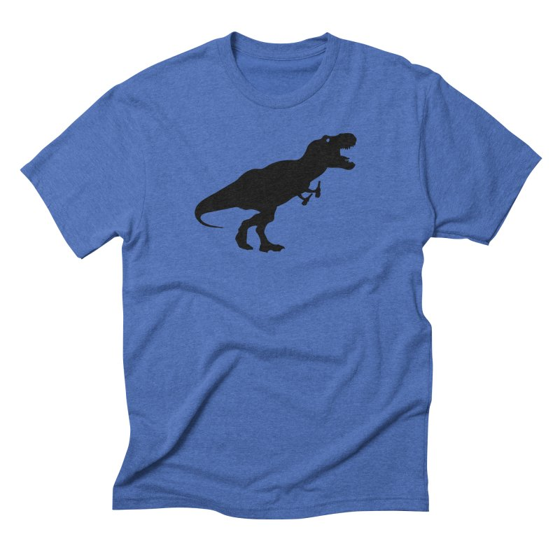 Double-fisting Dino Men's T-Shirt by Krawmart