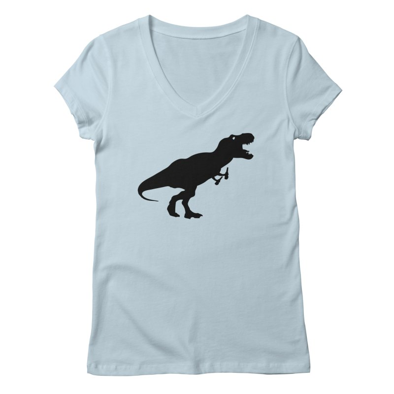 Double-fisting Dino Women's V-Neck by Krawmart