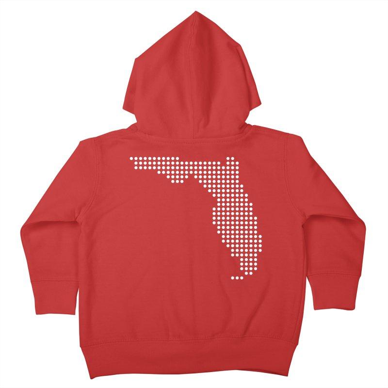 Florida Dots Kids Toddler Zip-Up Hoody by Krawmart