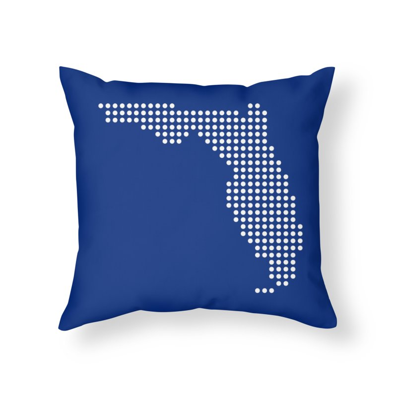 Florida Dots Home Throw Pillow by Krawmart