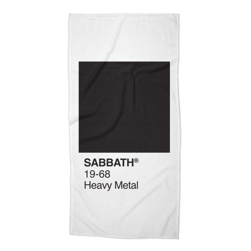 BLACK SABBATH Accessories Beach Towel by kreadid's Artist Shop