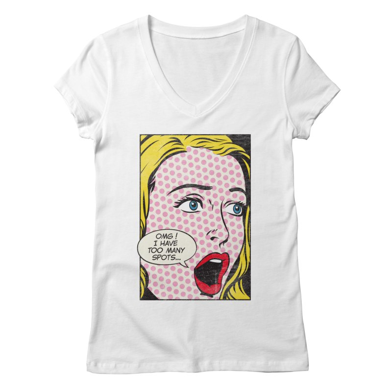 Spot Art Women's V-Neck by kreadid's Artist Shop