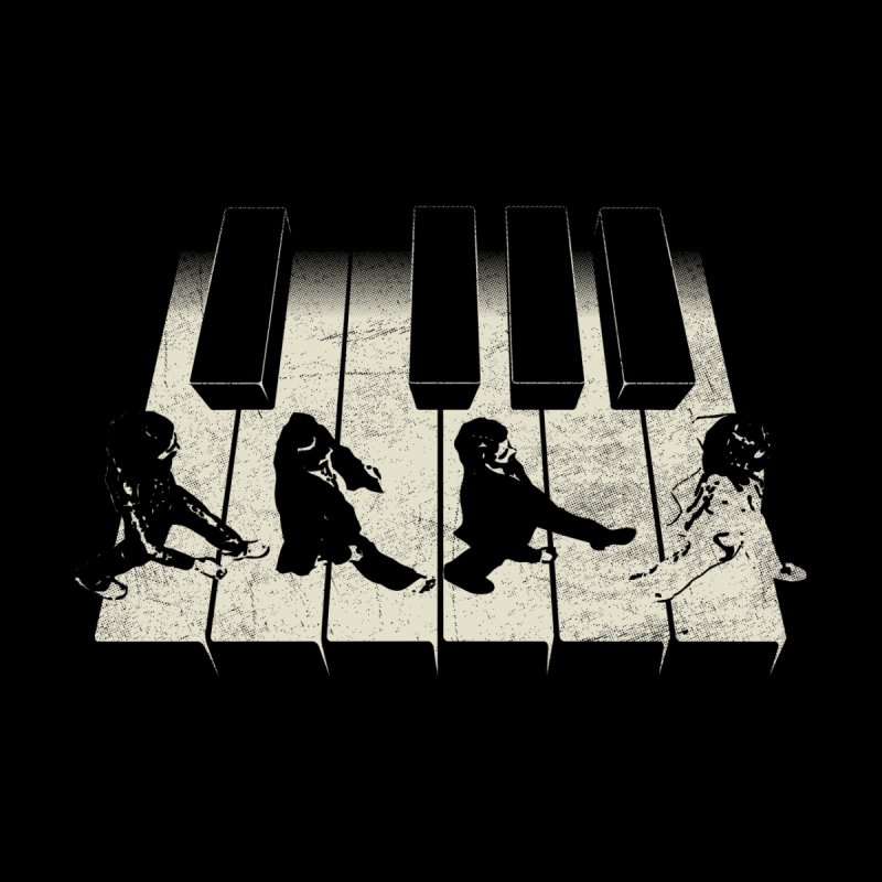 Walk on Piano Men's T-Shirt by kreadid's Artist Shop