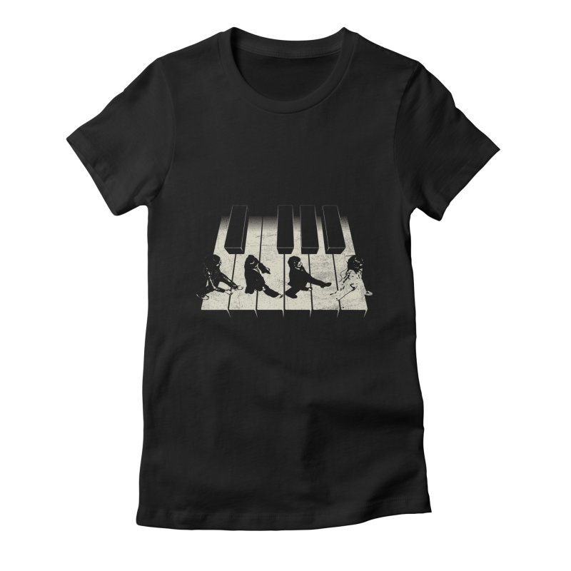 Walk on Piano Women's Fitted T-Shirt by kreadid's Artist Shop