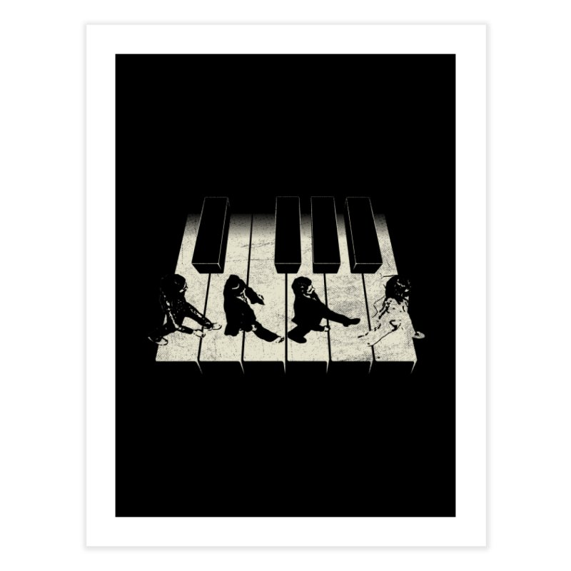 Walk on Piano Home Fine Art Print by kreadid's Artist Shop