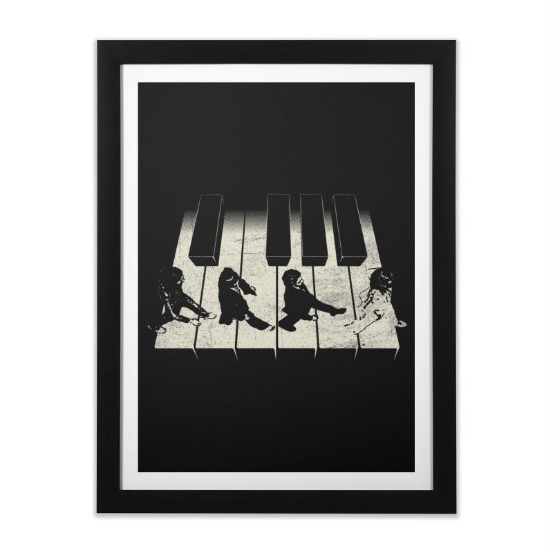 Walk on Piano Home Framed Fine Art Print by kreadid's Artist Shop