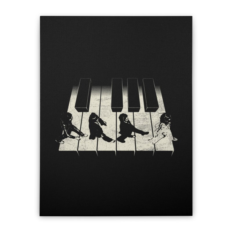 Walk on Piano Home Stretched Canvas by kreadid's Artist Shop