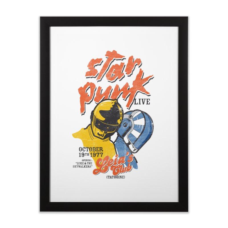 Star Punk Live Home Framed Fine Art Print by kreadid's Artist Shop