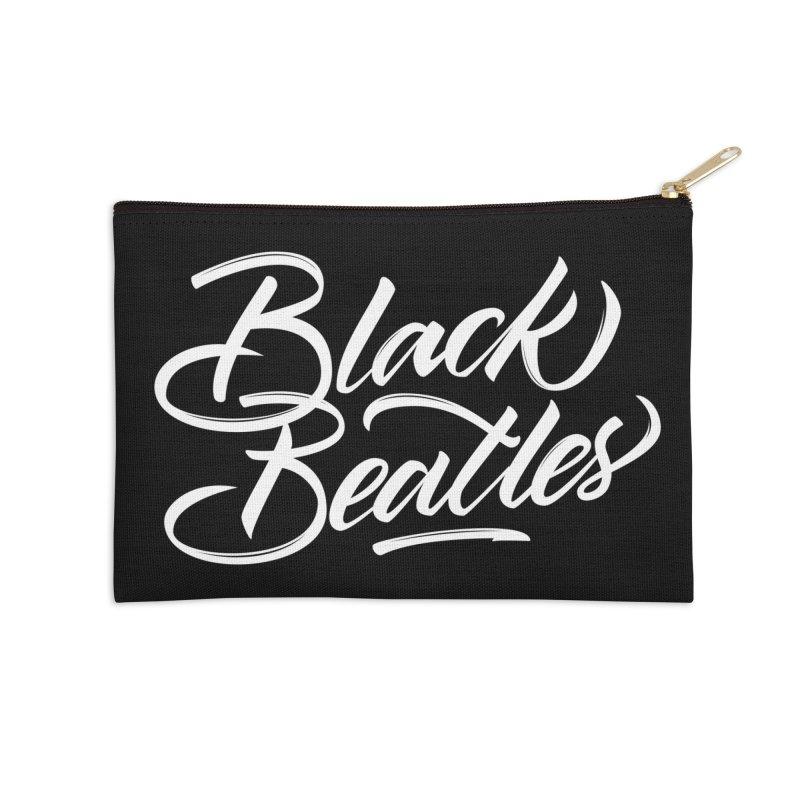 Black Beatles Accessories Zip Pouch by kreasimalam's Artist Shop