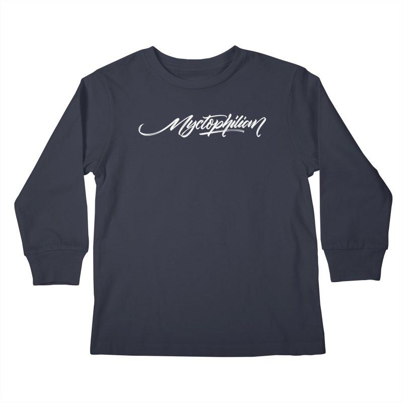 Nyctophilian Kids Longsleeve T-Shirt by kreasimalam's Artist Shop