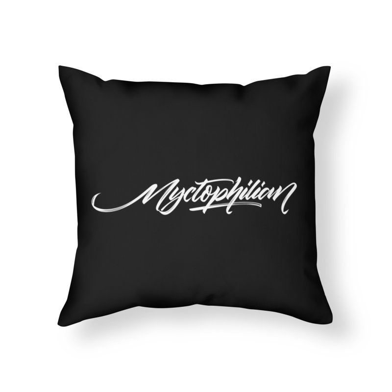 Nyctophilian Home Throw Pillow by kreasimalam's Artist Shop