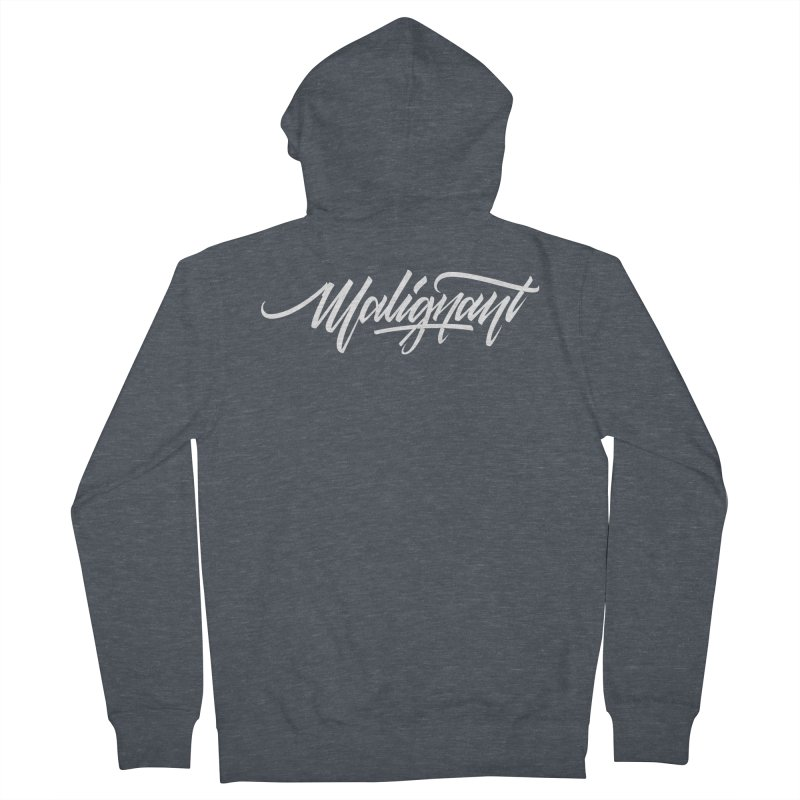 Malignant Men's French Terry Zip-Up Hoody by kreasimalam's Artist Shop