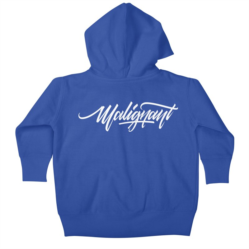 Malignant Kids Baby Zip-Up Hoody by kreasimalam's Artist Shop