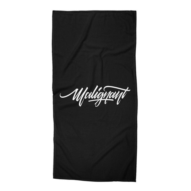 Malignant Accessories Beach Towel by kreasimalam's Artist Shop