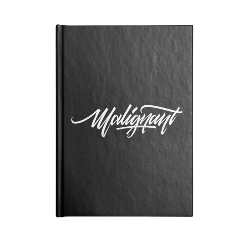 Malignant Accessories Lined Journal Notebook by kreasimalam's Artist Shop