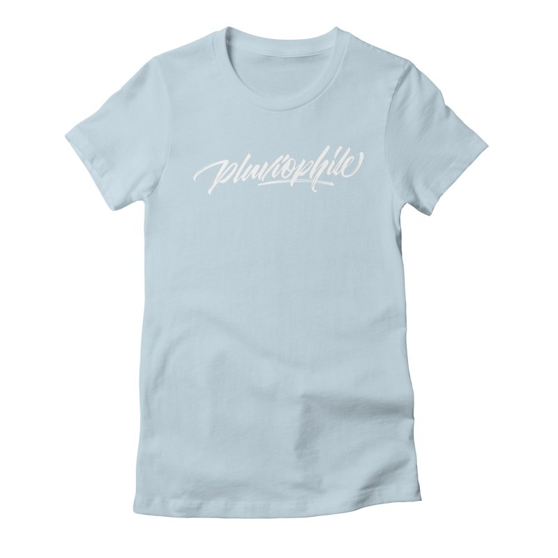 Pluviophile Women's Fitted T-Shirt by kreasimalam's Artist Shop