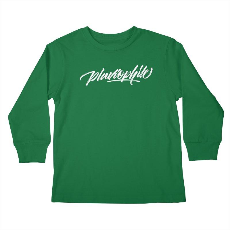 Pluviophile Kids Longsleeve T-Shirt by kreasimalam's Artist Shop