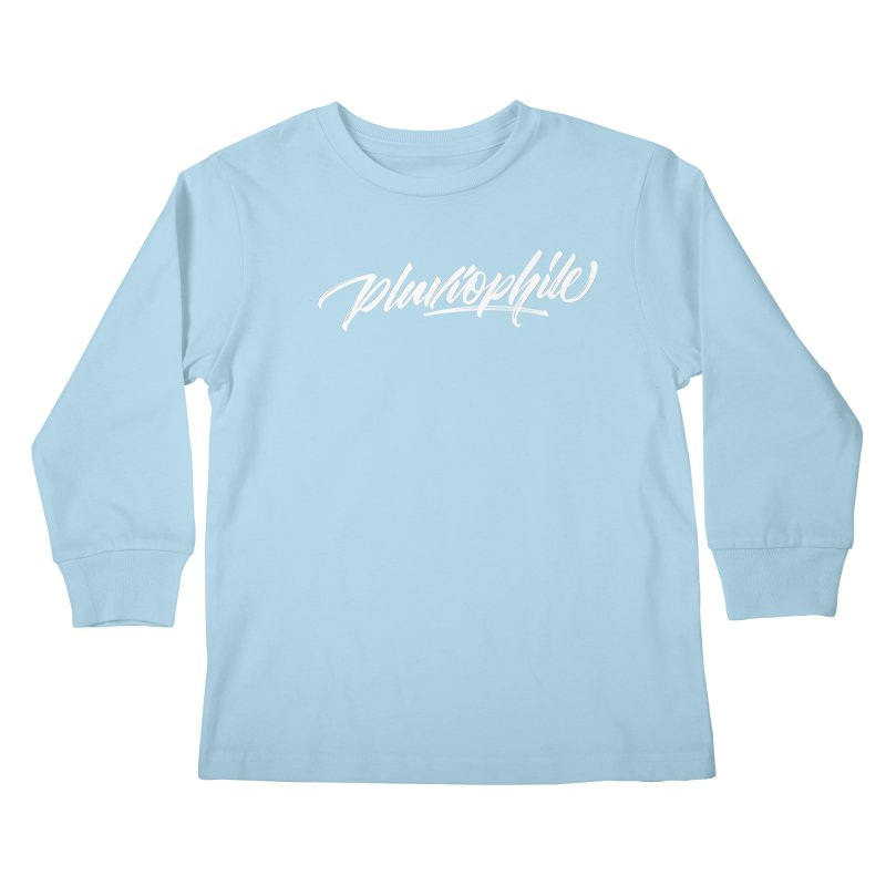 Pluviophile Kids Longsleeve T-Shirt by kreasimalam's Artist Shop