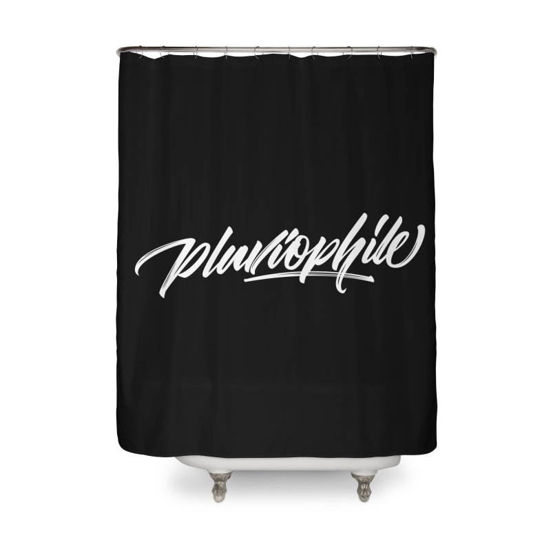 Pluviophile Home Shower Curtain by kreasimalam's Artist Shop