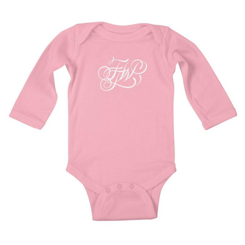 FTW Monogram Kids Baby Longsleeve Bodysuit by kreasimalam's Artist Shop