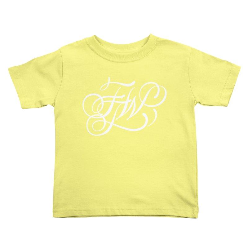 FTW Monogram Kids Toddler T-Shirt by kreasimalam's Artist Shop