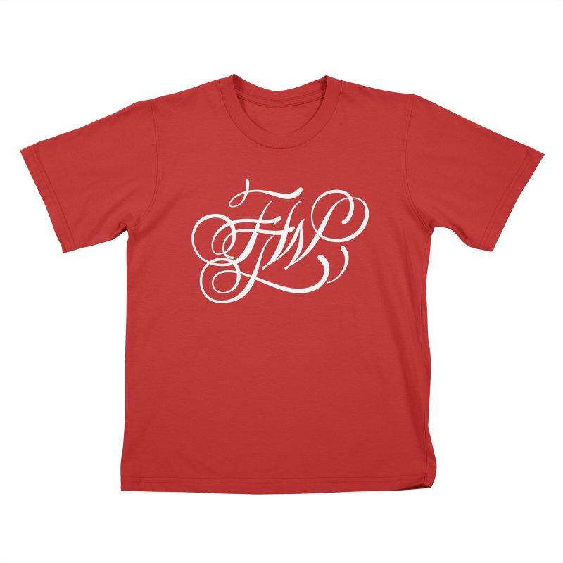 FTW Monogram Kids T-Shirt by kreasimalam's Artist Shop