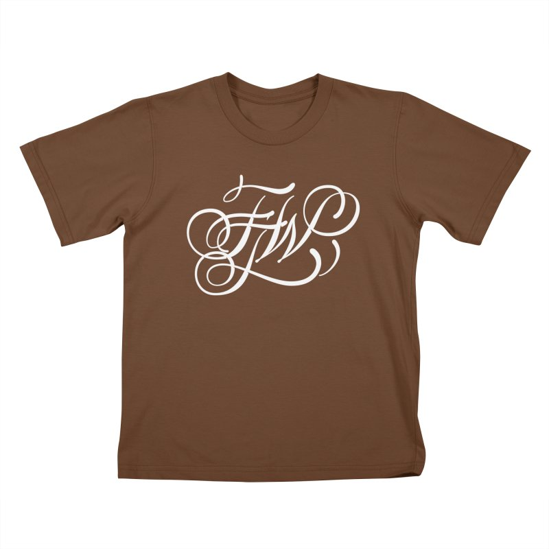 FTW Monogram Kids T-Shirt by kreasimalam's Artist Shop