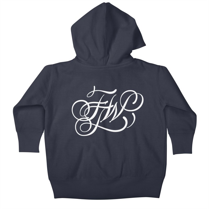 FTW Monogram Kids Baby Zip-Up Hoody by kreasimalam's Artist Shop