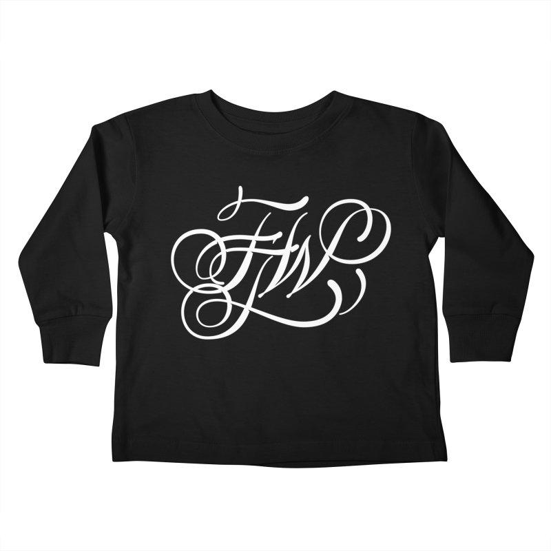 FTW Monogram Kids Toddler Longsleeve T-Shirt by kreasimalam's Artist Shop