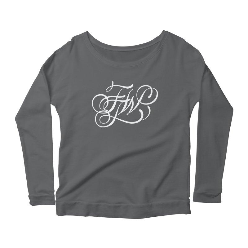 FTW Monogram Women's Scoop Neck Longsleeve T-Shirt by kreasimalam's Artist Shop