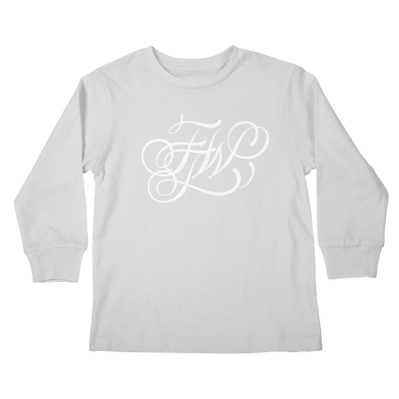 FTW Monogram Kids Longsleeve T-Shirt by kreasimalam's Artist Shop