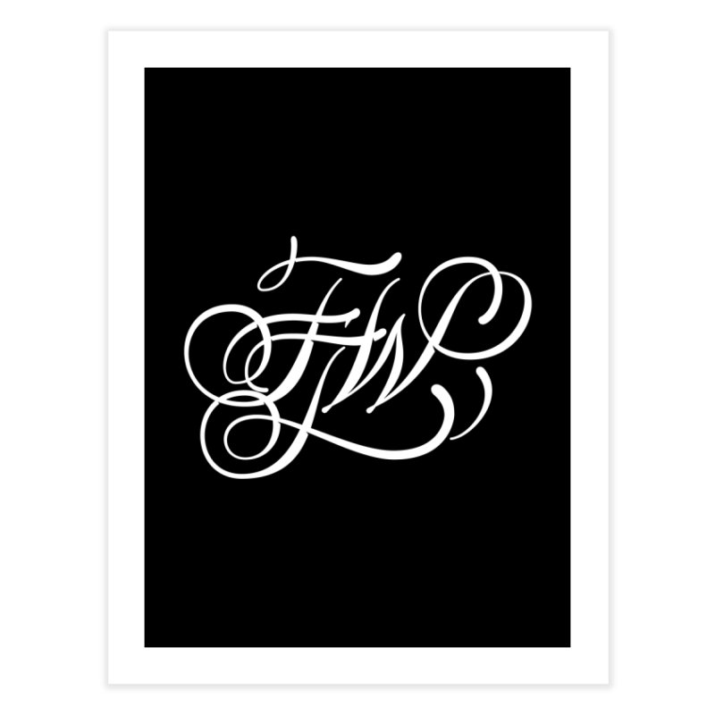 FTW Monogram Home Fine Art Print by kreasimalam's Artist Shop
