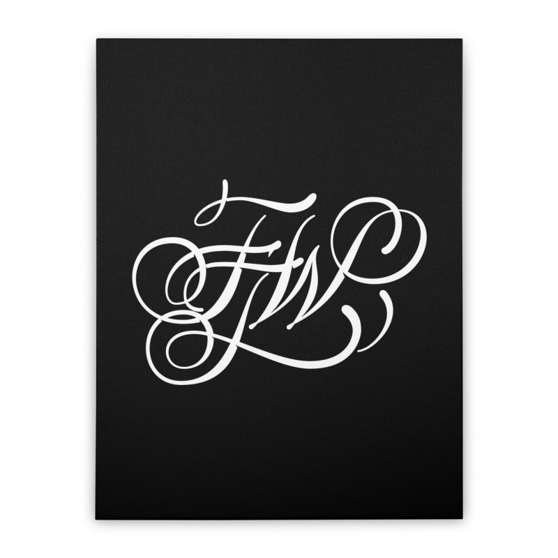 FTW Monogram Home Stretched Canvas by kreasimalam's Artist Shop
