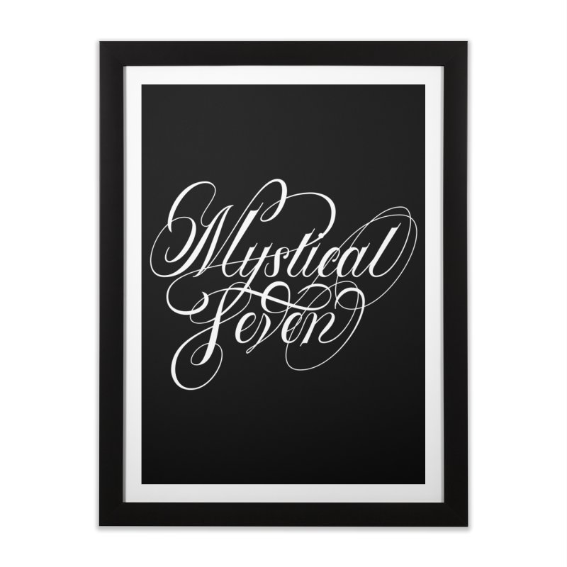 Mystical Seven Home Framed Fine Art Print by kreasimalam's Artist Shop