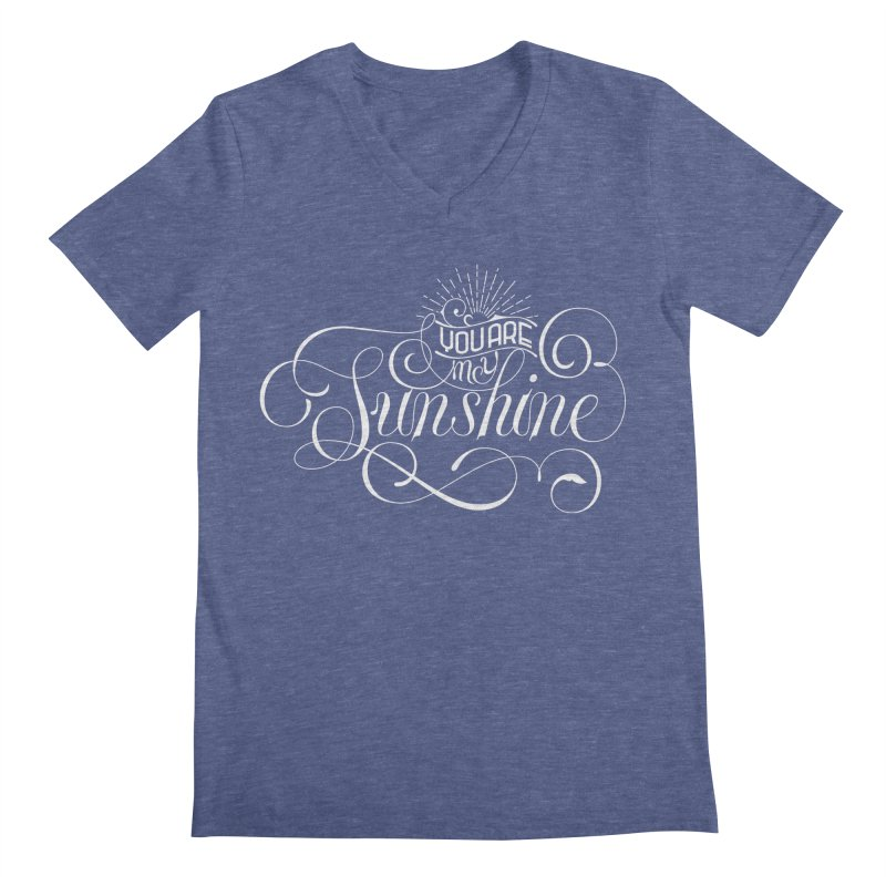 You Are My Sunshine Men's Regular V-Neck by kreasimalam's Artist Shop