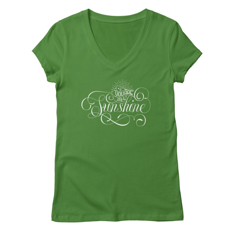 You Are My Sunshine Women's V-Neck by kreasimalam's Artist Shop