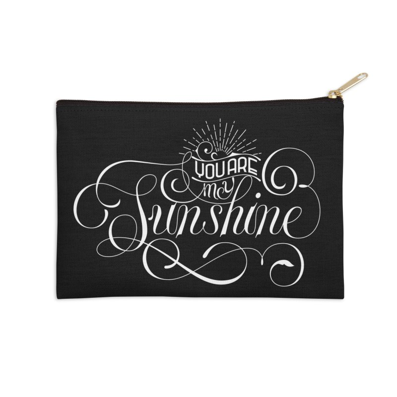 You Are My Sunshine Accessories Zip Pouch by kreasimalam's Artist Shop