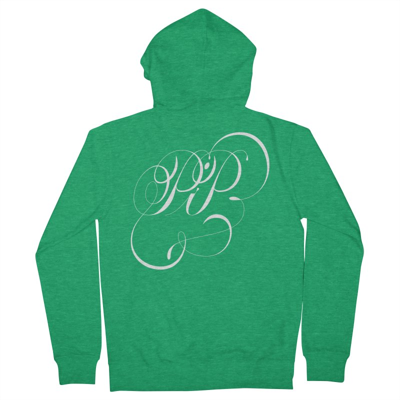 Poop In Peace Monogram Women's French Terry Zip-Up Hoody by kreasimalam's Artist Shop