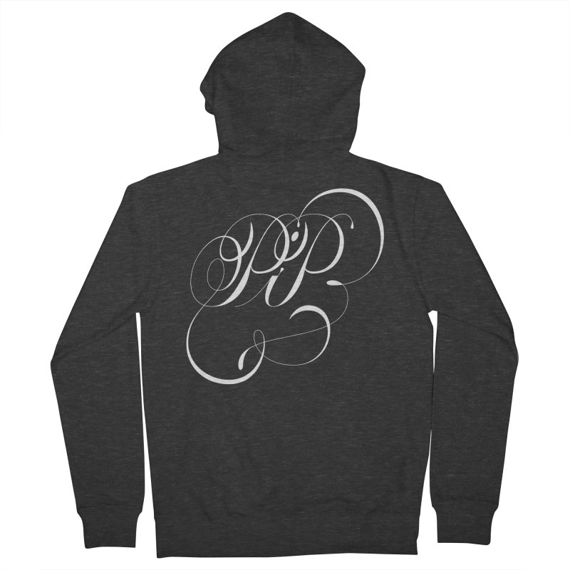 Poop In Peace Monogram Men's Zip-Up Hoody by kreasimalam's Artist Shop