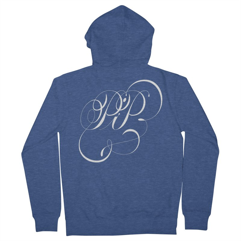 Poop In Peace Monogram Men's French Terry Zip-Up Hoody by kreasimalam's Artist Shop
