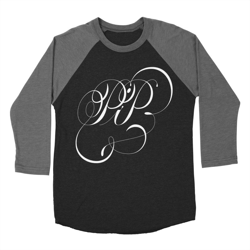Poop In Peace Monogram Men's Baseball Triblend Longsleeve T-Shirt by kreasimalam's Artist Shop