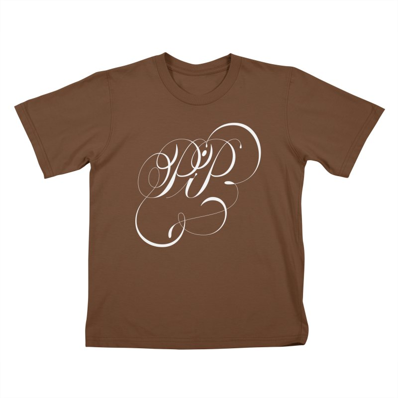 Poop In Peace Monogram Kids T-Shirt by kreasimalam's Artist Shop