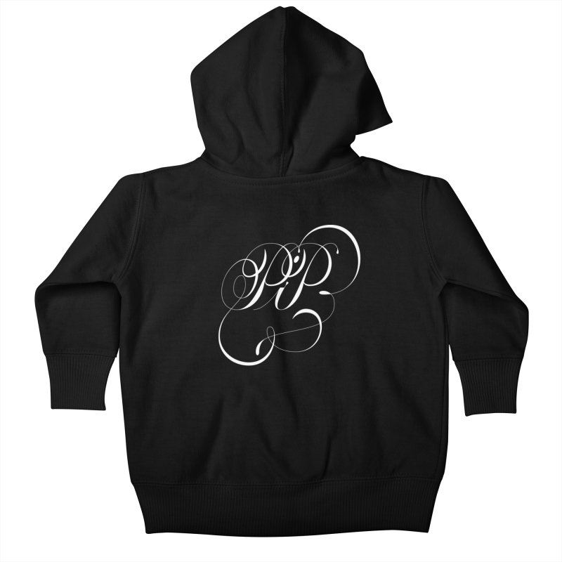 Poop In Peace Monogram Kids Baby Zip-Up Hoody by kreasimalam's Artist Shop