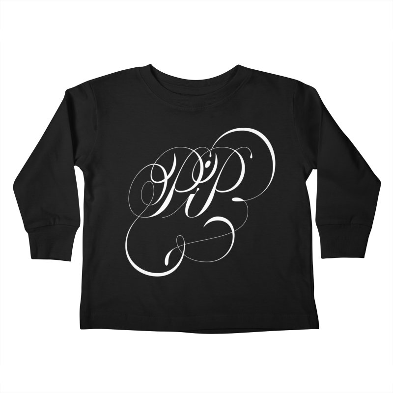 Poop In Peace Monogram Kids Toddler Longsleeve T-Shirt by kreasimalam's Artist Shop