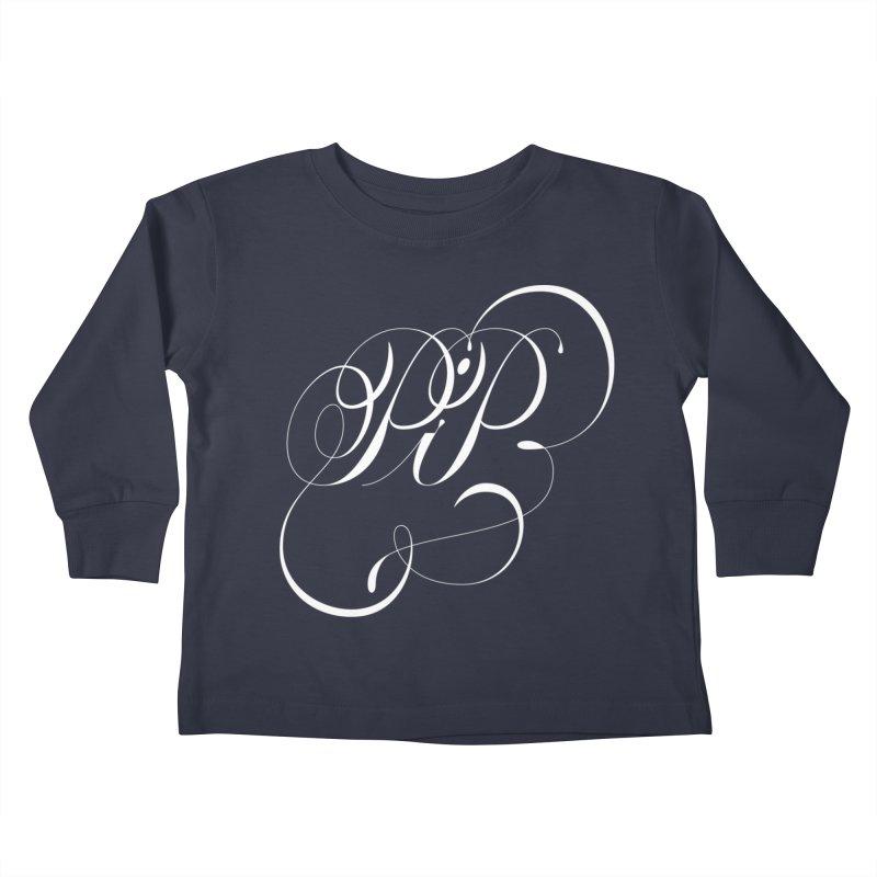 Poop In Peace Monogram Kids Toddler Longsleeve T-Shirt by kreasimalam's Artist Shop