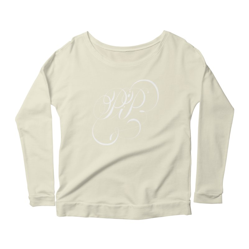 Poop In Peace Monogram Women's Longsleeve Scoopneck  by kreasimalam's Artist Shop