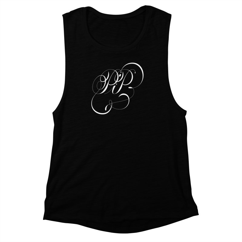 Poop In Peace Monogram Women's Muscle Tank by kreasimalam's Artist Shop